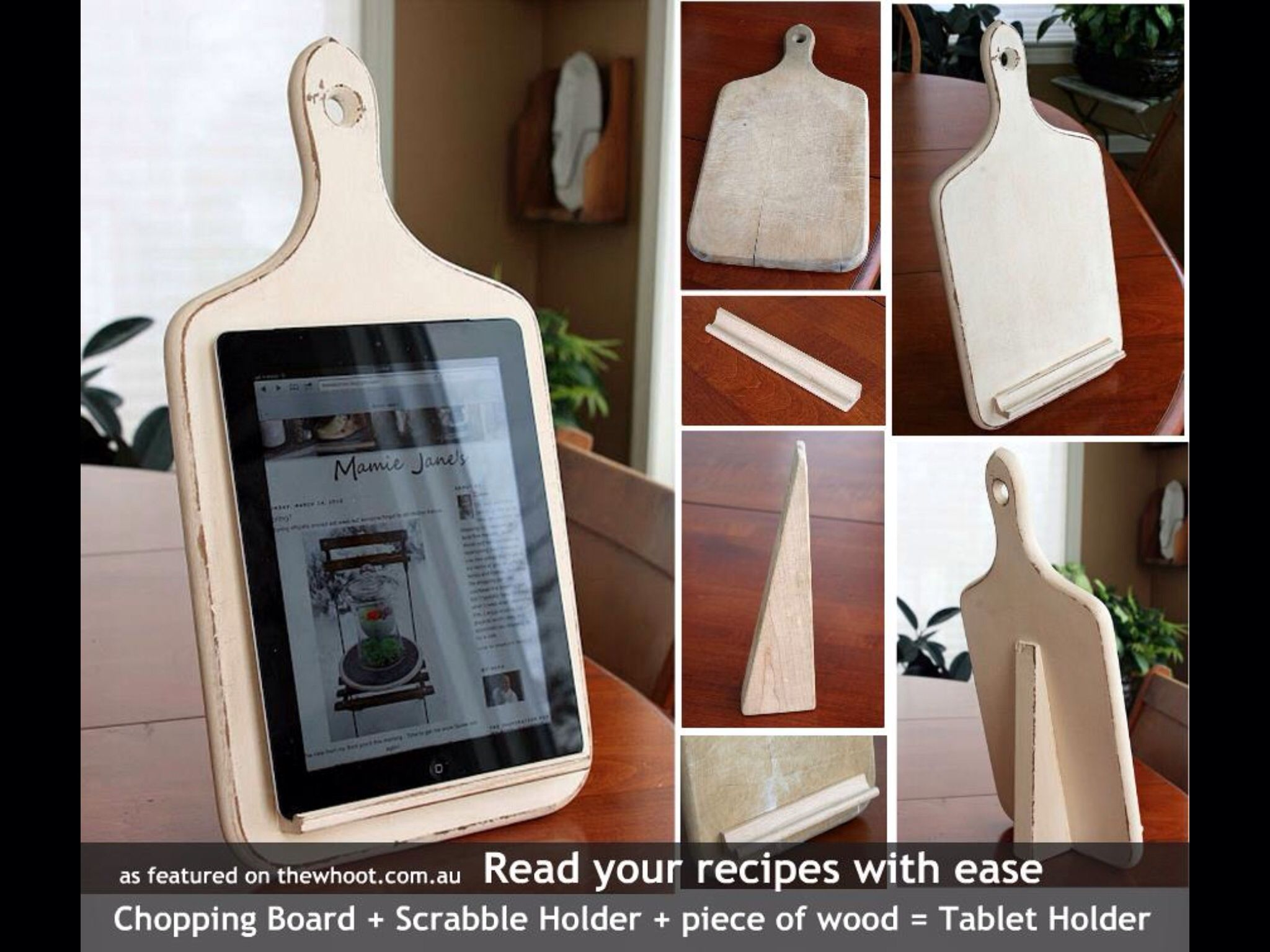 Ipad stand for the kitchen arts and crafts pinterest crafty