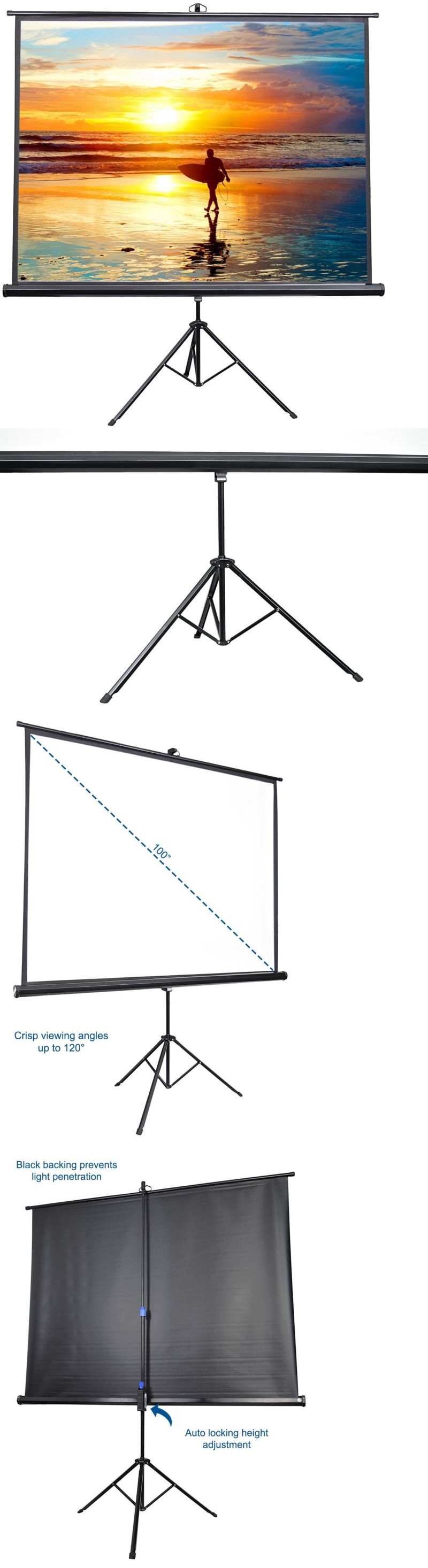 Projection Screens and Material: 100 Portable Outdoor Movie Screen ...
