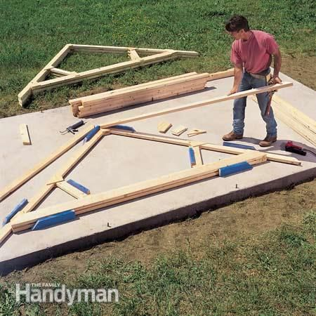 Tips for building a storage shed roof trusses saving for Pre made trusses price