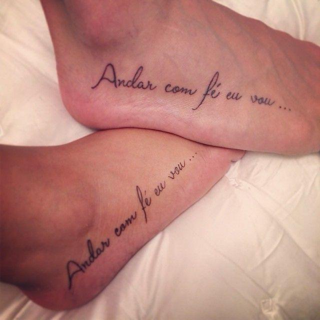 Andar Com Fe Eu Vou Tatuagem Pesquisa Google Tatuagem Casal
