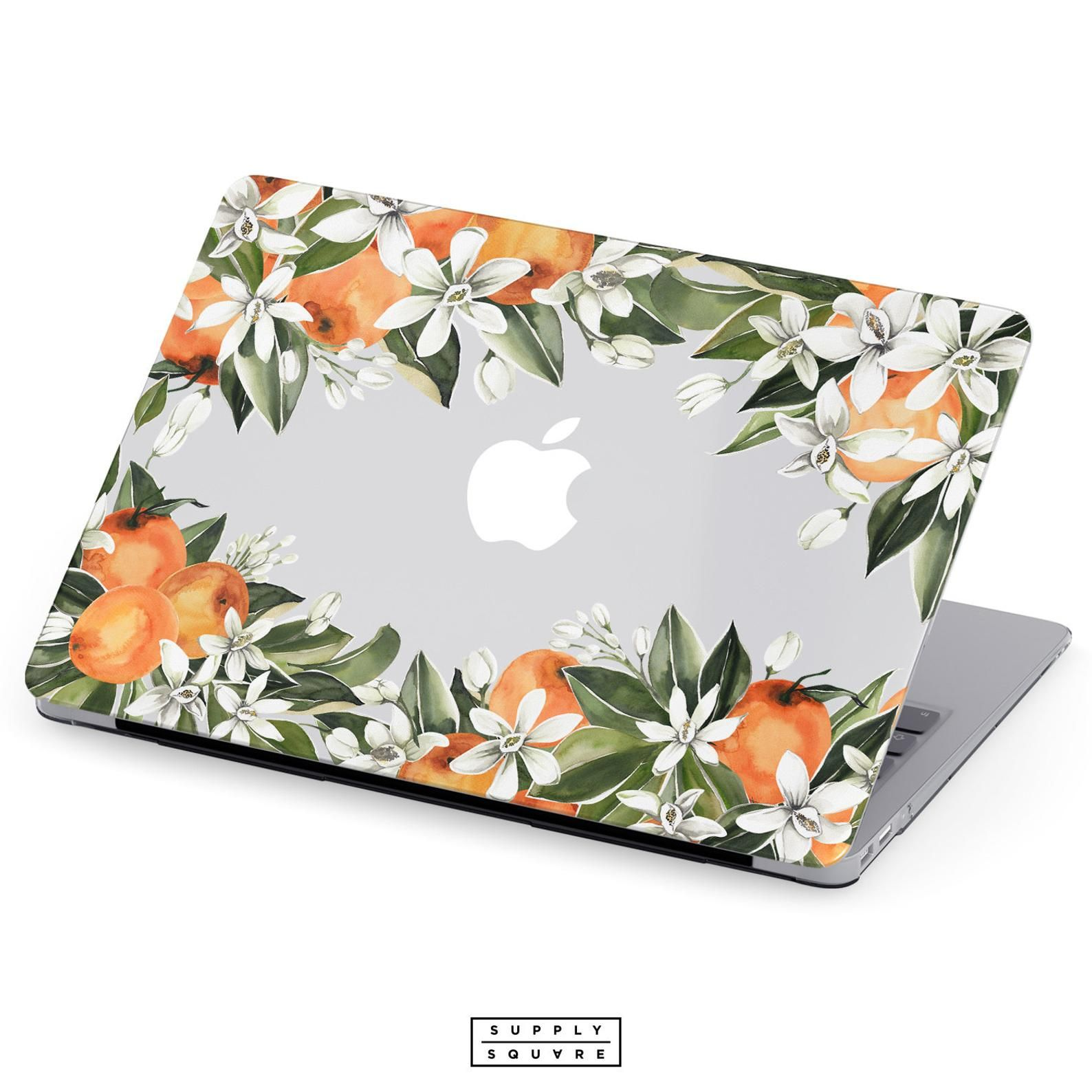 designer fashion 7e2e9 fd6b2 MacBook Case Orange And Green Citrus Flowers MacBook Air Case ...