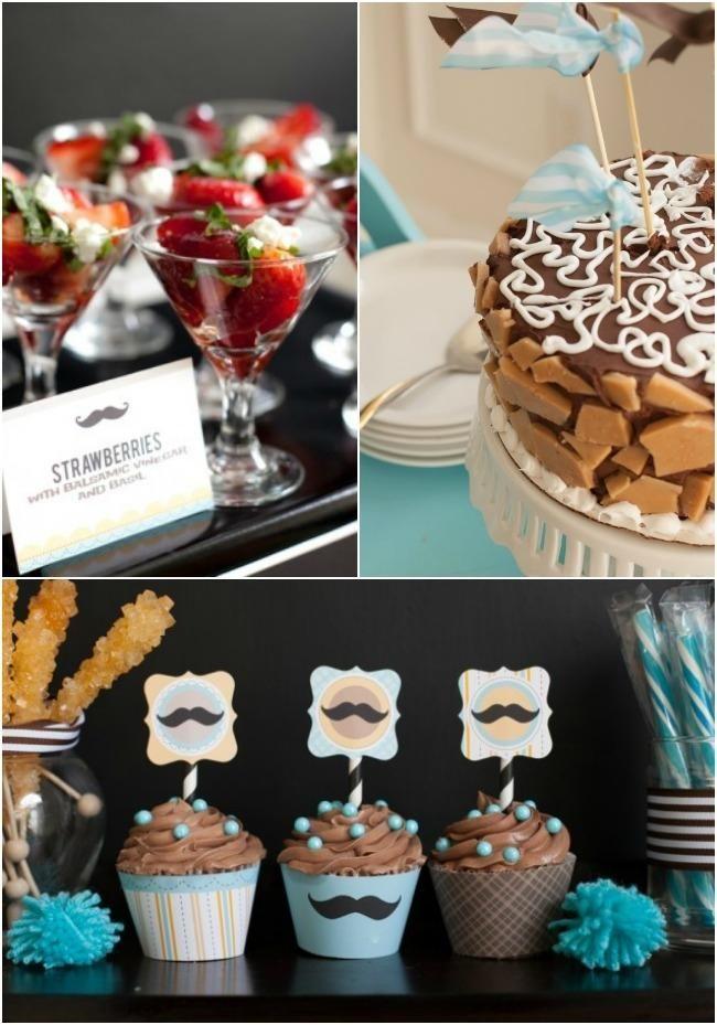 Mustache Theme Boy Baby Shower Food Ideas