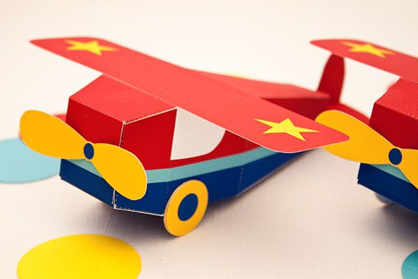 """Our lil' airplane will take off with your guests at the end of the party!  Our GO AIRPLANE Printable Favor Box includes: • Printable airplane box (1 per 1.5 pages) • Assembled box is 1 7/8"""" w x 1 7/8"""" h x 5 3/4"""" d (excluding 6 7/16"""" wing, wheels and rudder) • Printing and assembly required ..."""