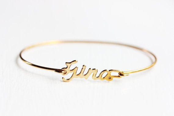 Vintage Name Bracelet - Gina | My Wish List | Name bracelet