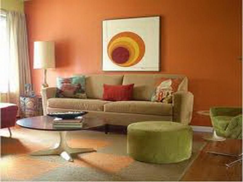 Orange Living Room Colors Ideas Home Decorations Pinterest