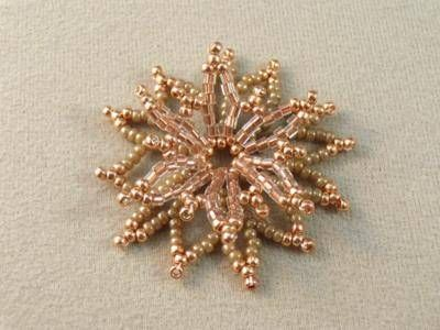 Russian style netted flower. you can add beads or crystals to center