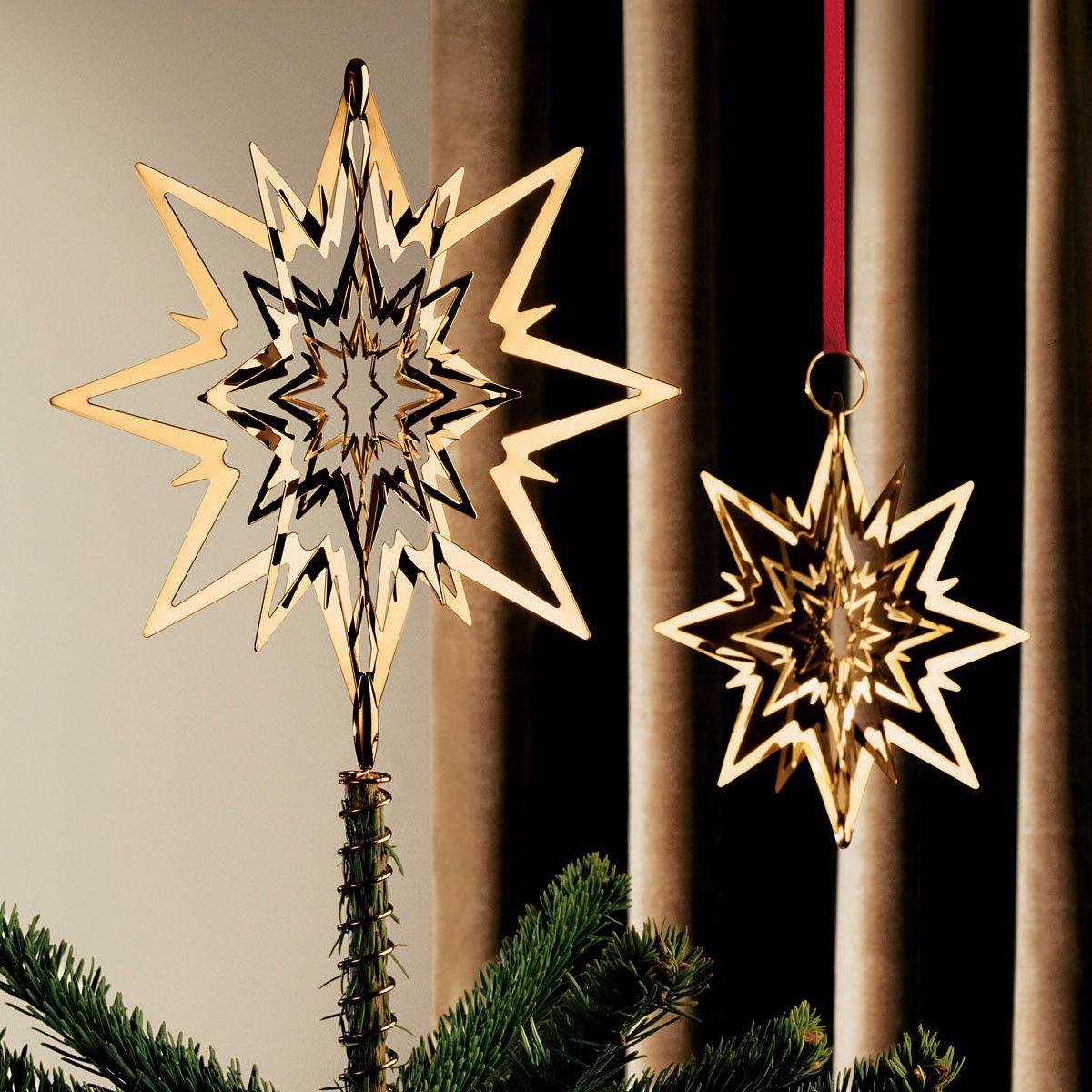 georg jensen tannenbaumspitze stern medium vergoldet. Black Bedroom Furniture Sets. Home Design Ideas