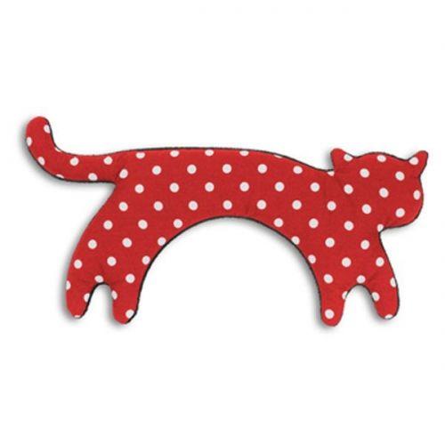 Hot hot hot! Leschi Wärmekissen Katze Minina Stehend Polka Dot Rot