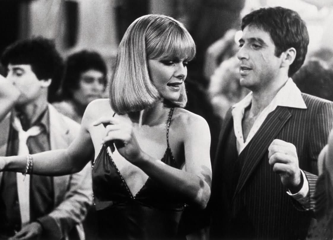 Michelle Pfeiffer with Al Pacino in Scarface directed by ...