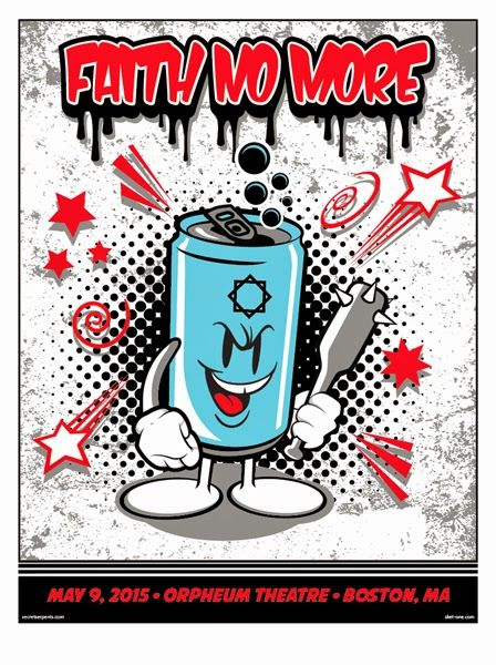Sket One Faith No More Boston Poster World Premiere Exclusive