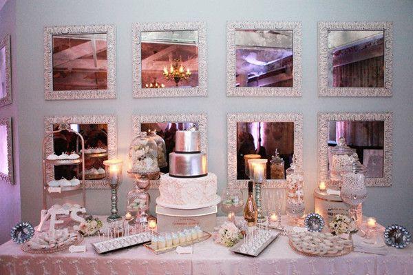 Tischdeko Hochzeit Winter Feiern In Rosa Und Silber Winter Hochzeit