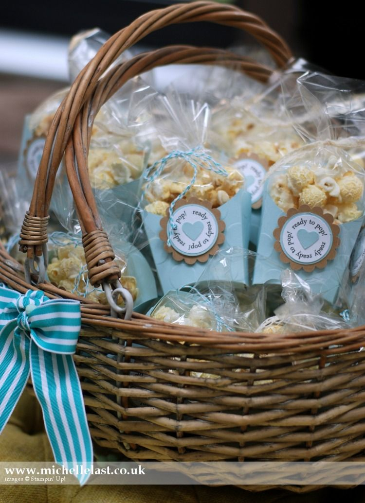 Baby shower favours using stampin up products baby