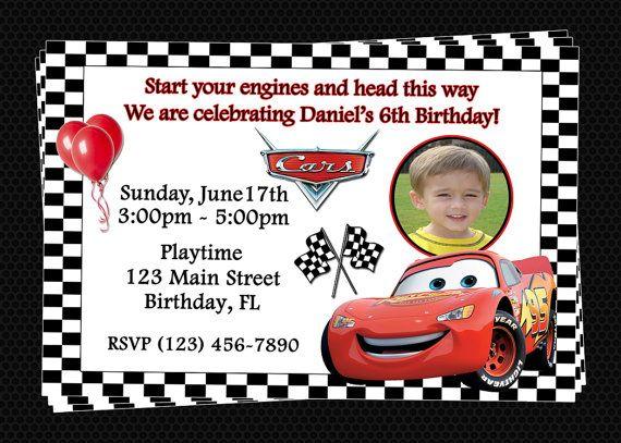 custom cars inspired birthday party invitations diy printable file
