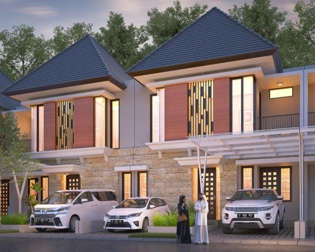 1 One Gate System 2 Mushola Masjid Rumah Tahfidz 3 Taman Bermain 4 Fasilitas Jalan Utama Row 8 Mtr 5 Service Area 6 Jaringan Desain Eksterior Villa Rumah