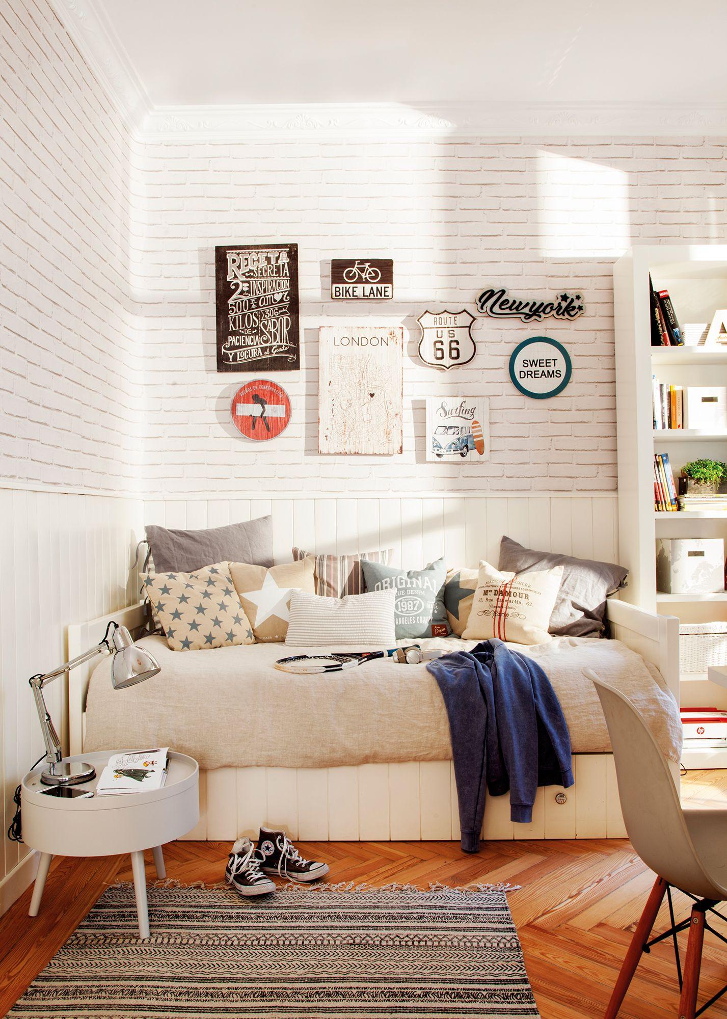Su cuarto sus lemas en 2019 muros ladrillo blanco for Muebles pepe jesus dormitorios juveniles