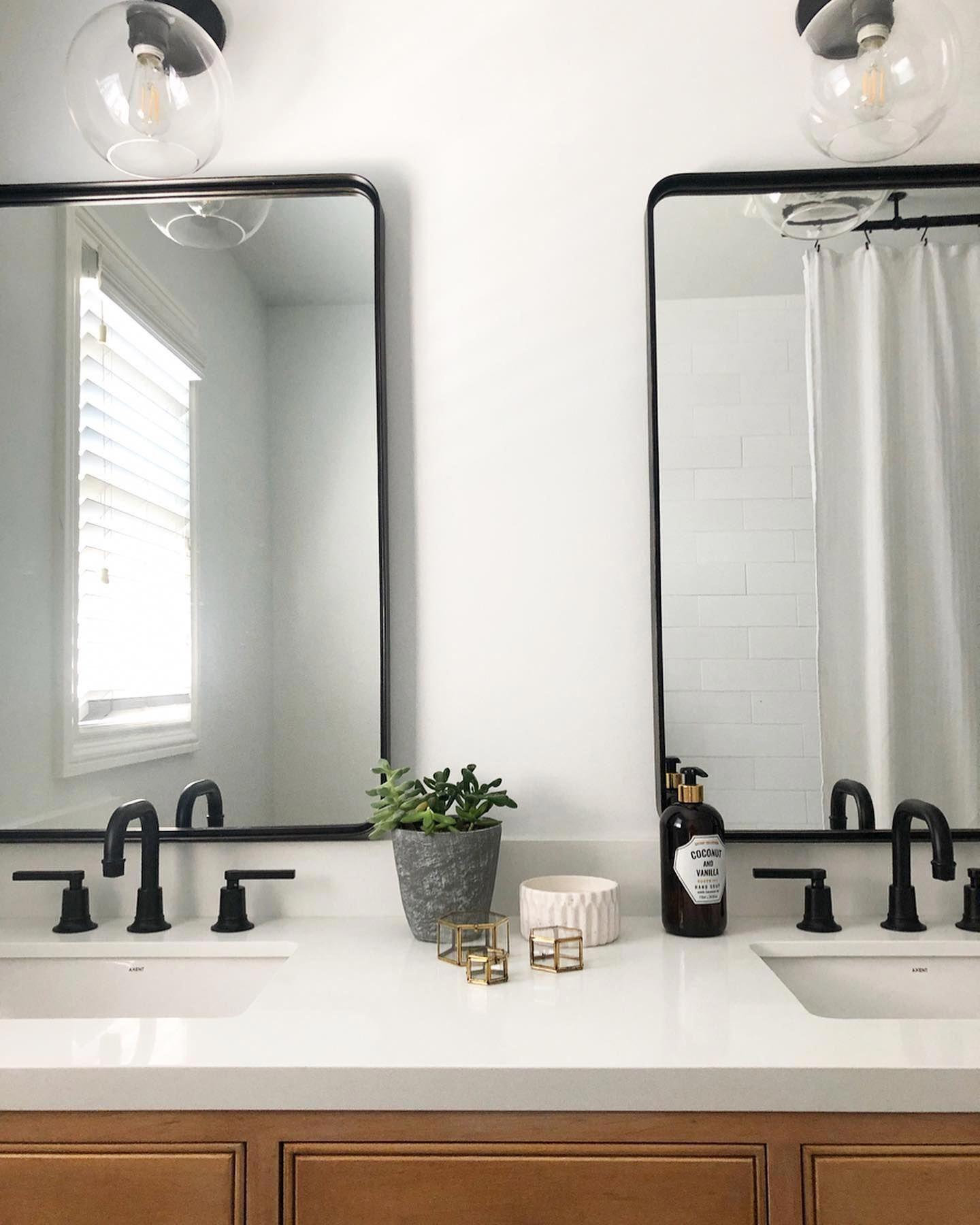 Halstad Framed Bathroom Mirror Framed Bathroom Mirror Bathroom Mirror Decorative Bathroom Mirrors [ 1800 x 1440 Pixel ]