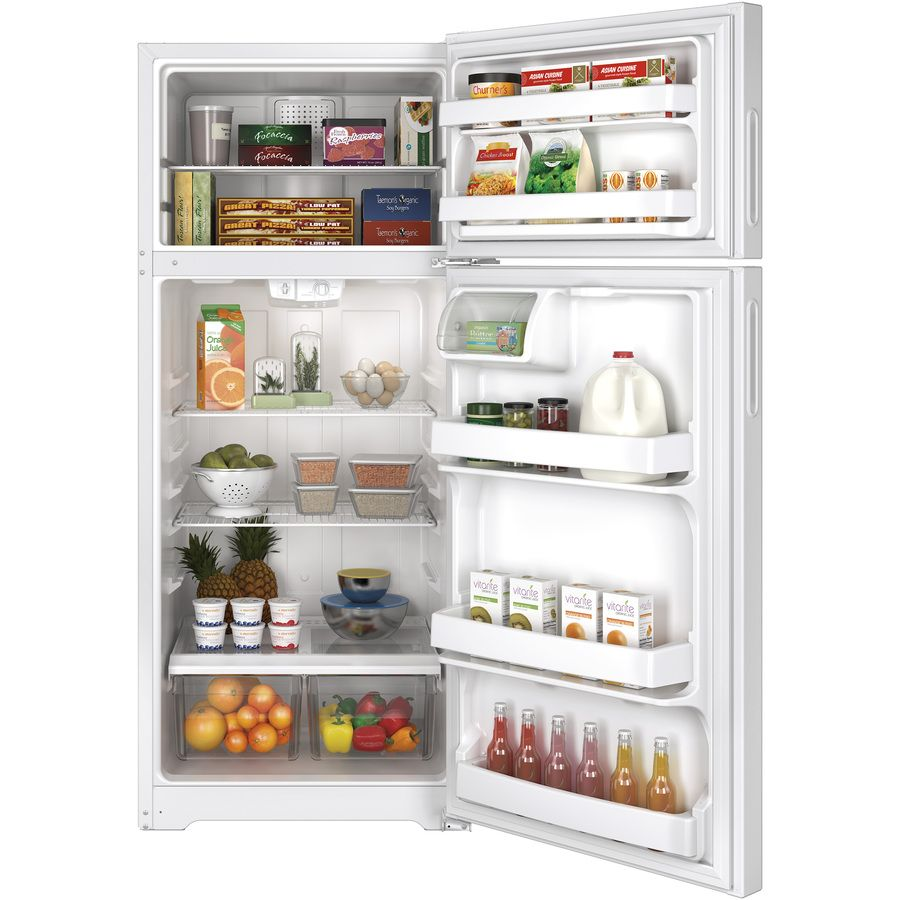 shop hotpoint 176cu ft topfreezer white at lowes