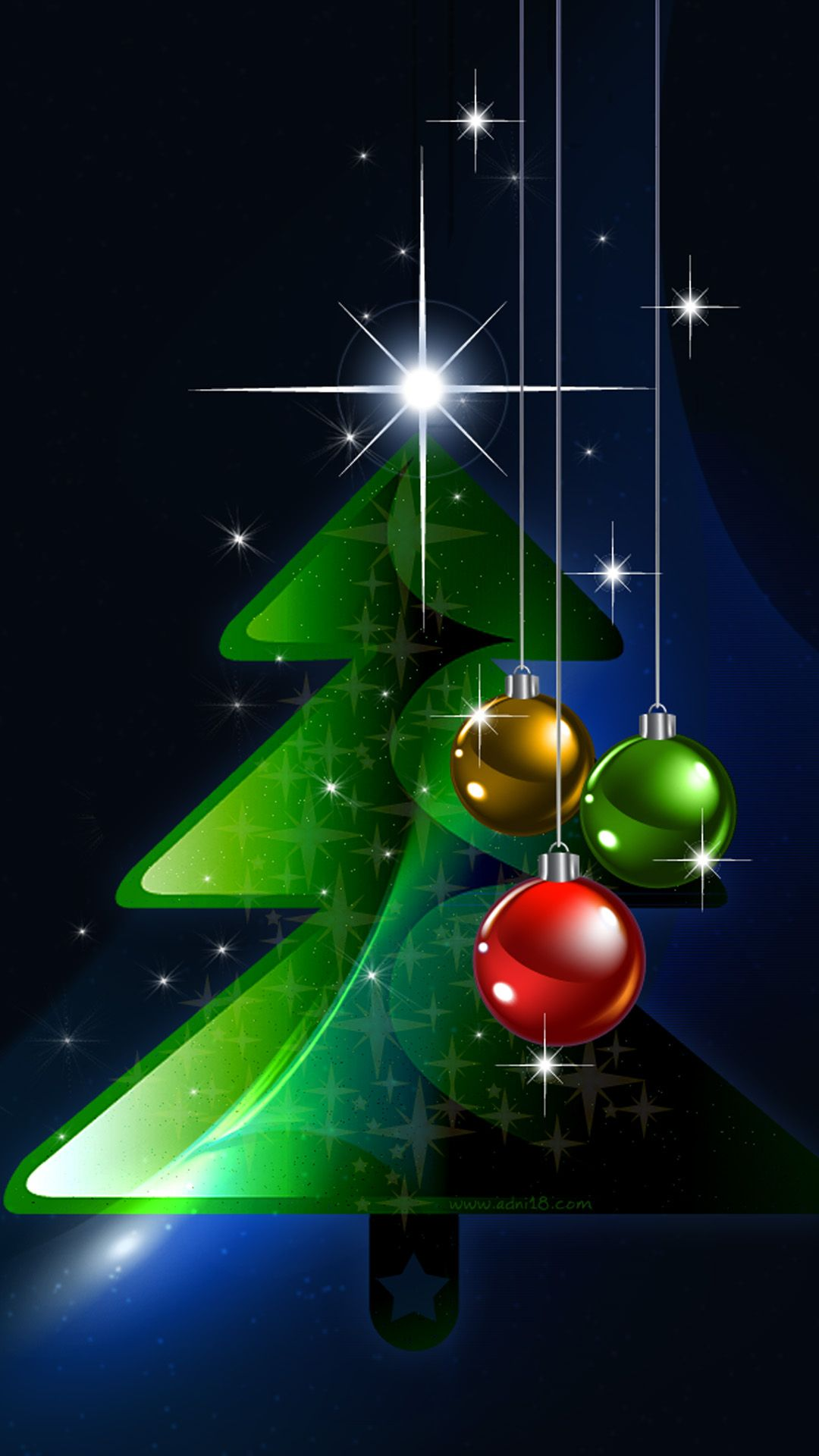 2016 Christmas Tree iPhone 8 Wallpapers Christmas tree