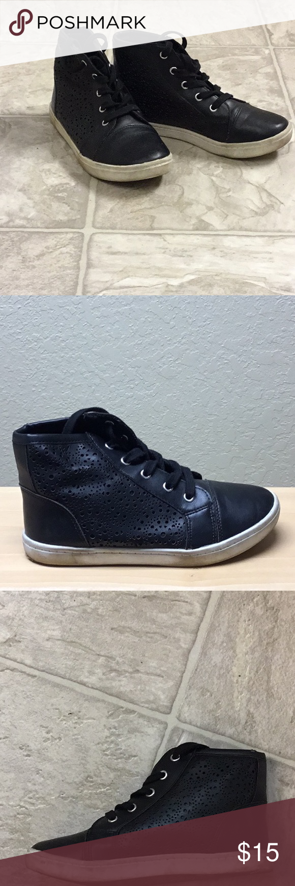 Cool 'Report' faux leather High Tops