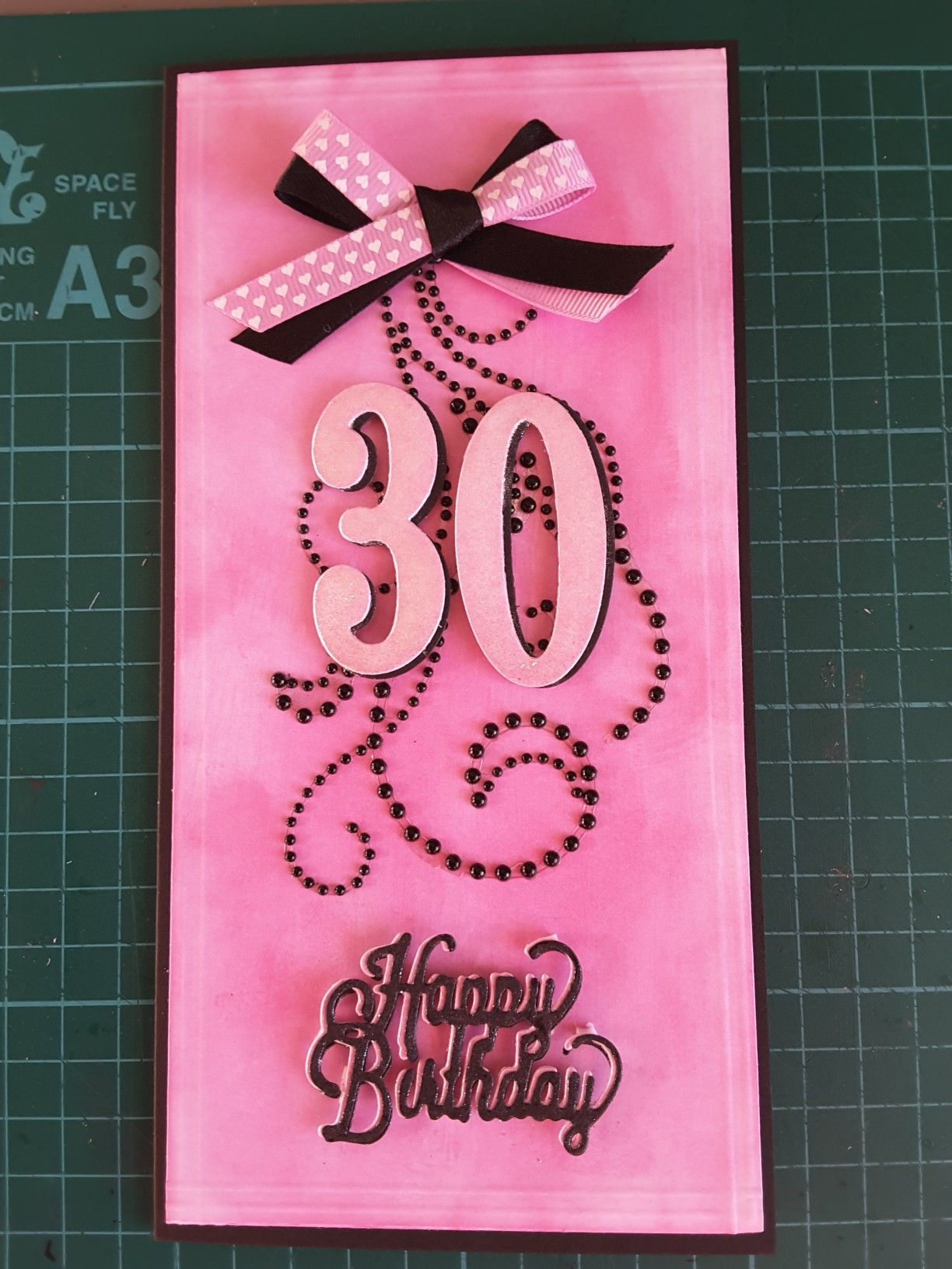 30th Birthday Card Stampin Up large numbers 30th