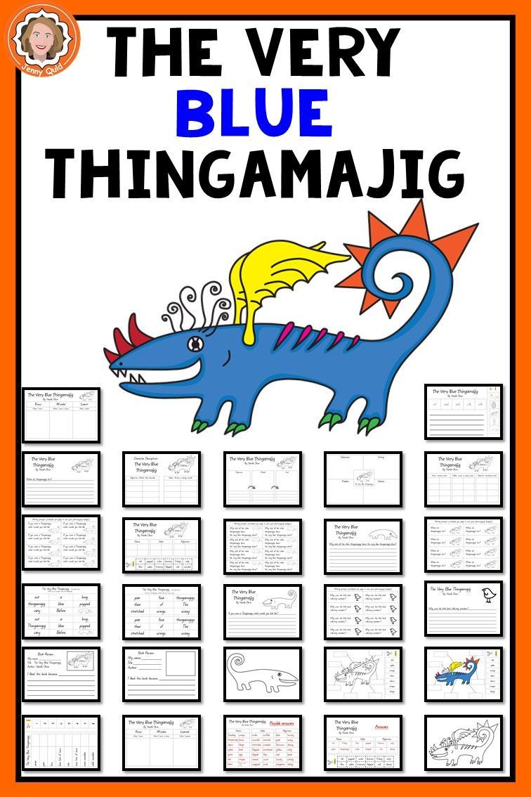 The Very Blue Thingamajig Art Book Study Literacy And Numeracy Graphic Organisers [ 1134 x 756 Pixel ]