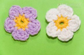 Blumen Häkeln Kleine 5 Blättrige Blüte Chrochet Flower German