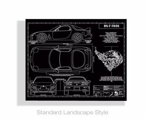 Blueprint artwork is engraved to create personalized gifts for car blueprint artwork is engraved to create personalized gifts for car lovers and car enthusiasts drawings malvernweather Choice Image