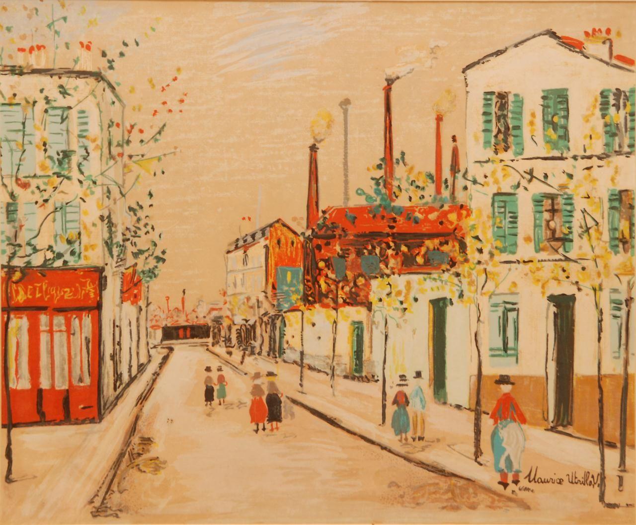 utrillo paintings | 109 maurice utrillo original street scene gouache maurice utrillo ...