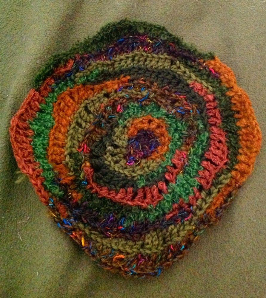 Virkattu härpäke villiä virkkausta  Freeform crochet