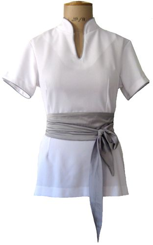 Catherine moore spa uniforms business clothes for Uniform design for spa