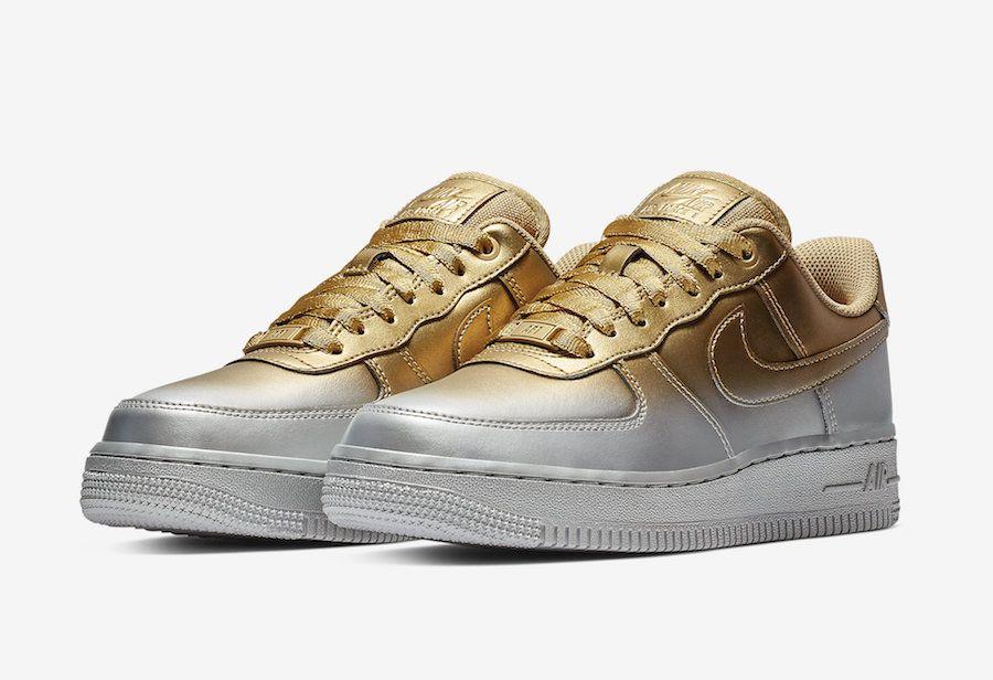 Nike Air Force 1 Low Black Yellow Sneaker Bar Detroit