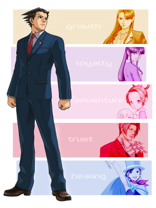 Ace Attorney Phoenix Wright S Friendships And Relationships Summed Up In One Word Each Phoenix Wright Apollo Justice Ace