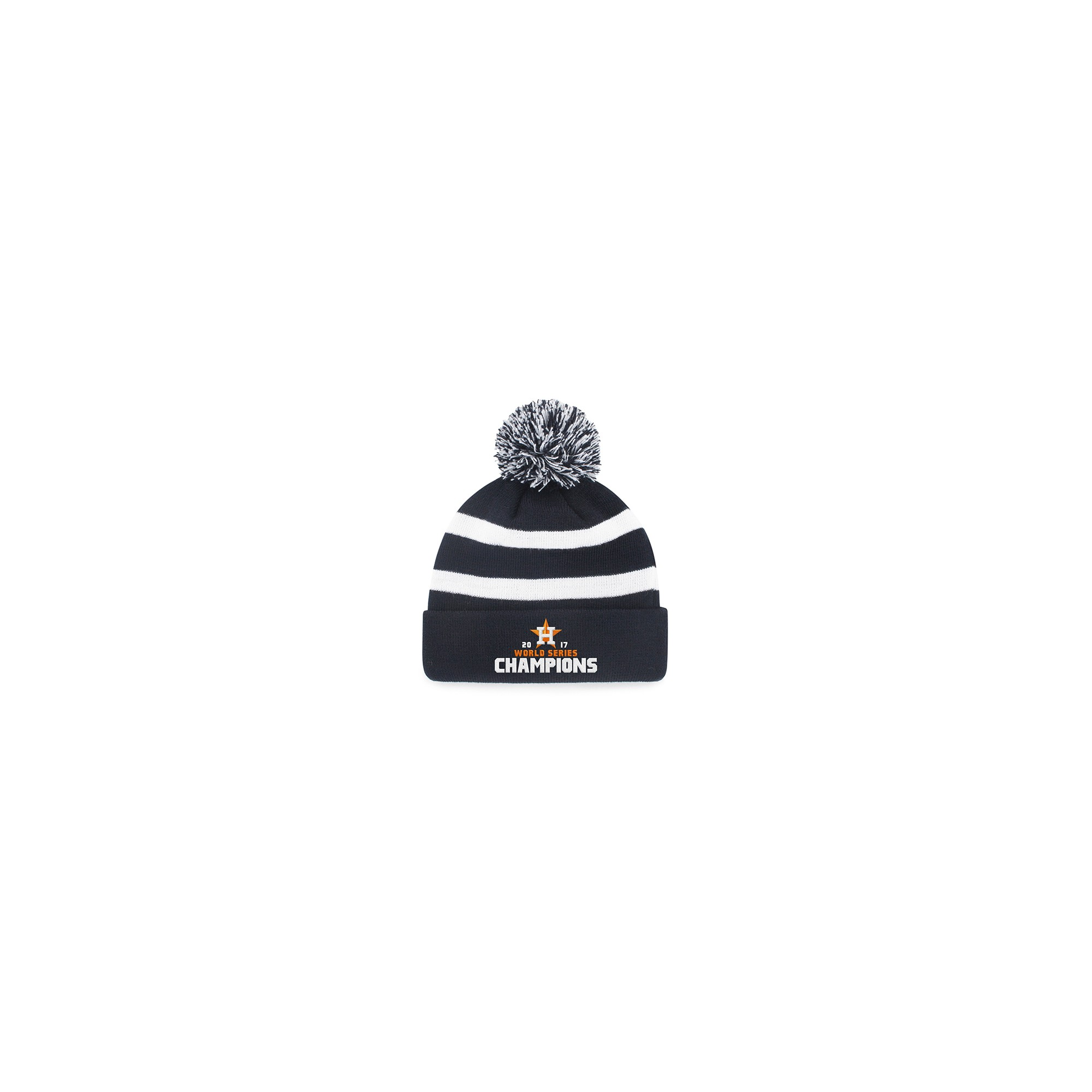 b8cf3da369a Houston Astros Fan Favorite World Series Champions Breakaway Knit Beanie  with Pom