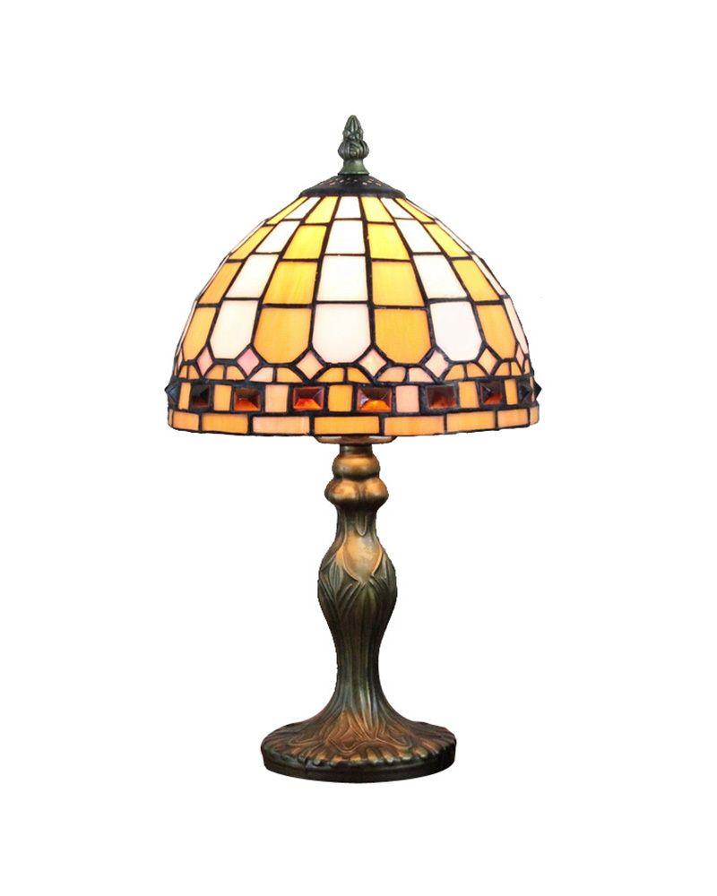 Ems Free Ship Table Lamps Antique Tiffany Yellow Gl Desk Light Fixture Mediterranean Sea Style Bedroom