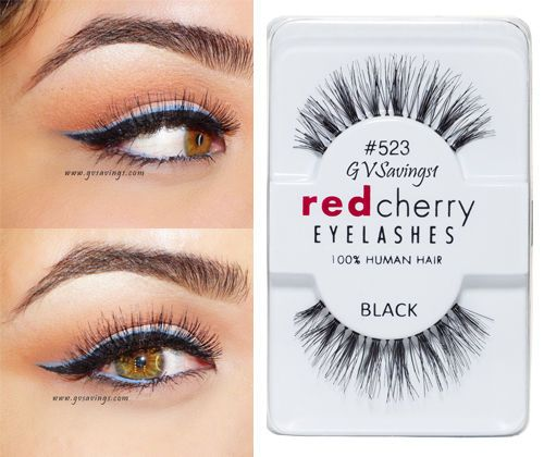 f3bc2f83679 NIB~ Red Cherry #523 False Eyelashes AUTHENTIC Wispy Wispies SAGE BLACK |  Health & Beauty, Makeup, Eyes | eBay!