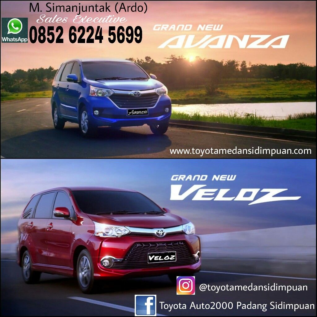Grand New Avanza Vs Veloz Aksesoris 2017 Toyota Pinterest