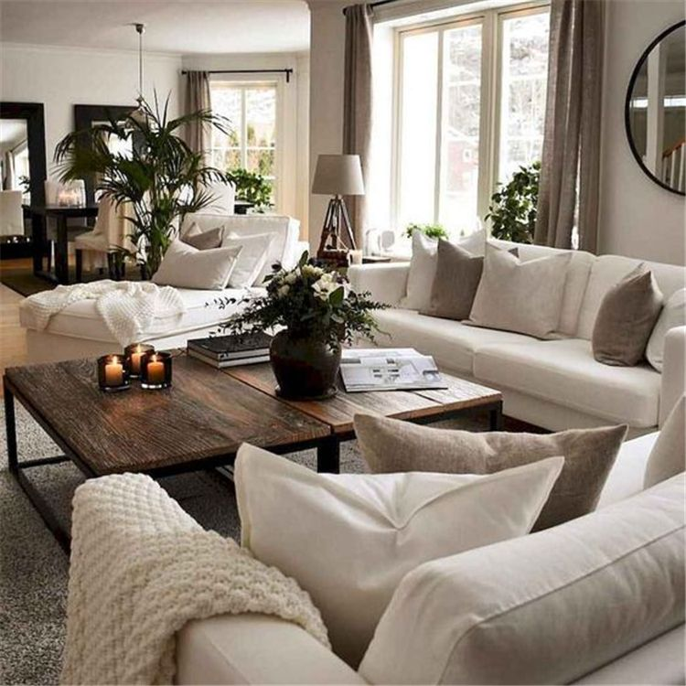 50 Cozy And Comfy Winter Living Room Decoration Ideas You Should Try Page 34 Of 50 In 2020 Farm House Living Room Winter Living Room Interior Design Living Room Modern
