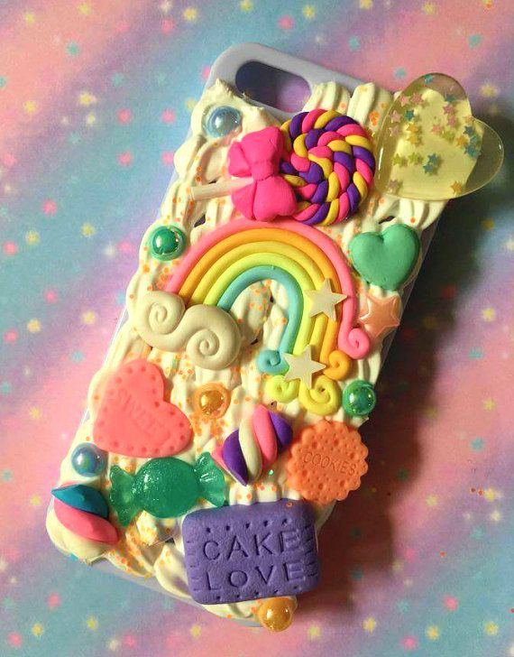Coque iphone 5 / 5s / SE decoden arc-en-ciel et par PrettyChantilly