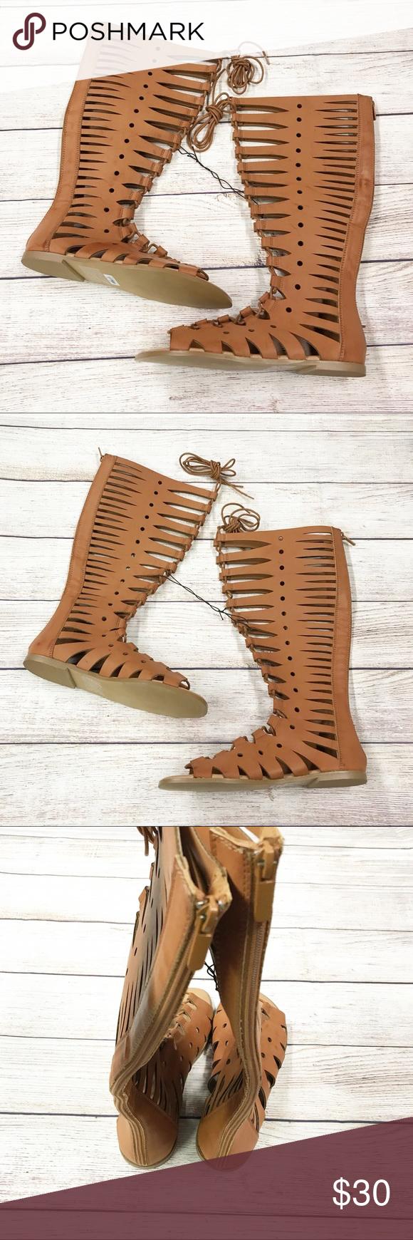 47d6c7530c43 NEW Torrid Wide Calf Knee High Gladiator Sandals Fierce knee high gladiator  sandals from Torrid!