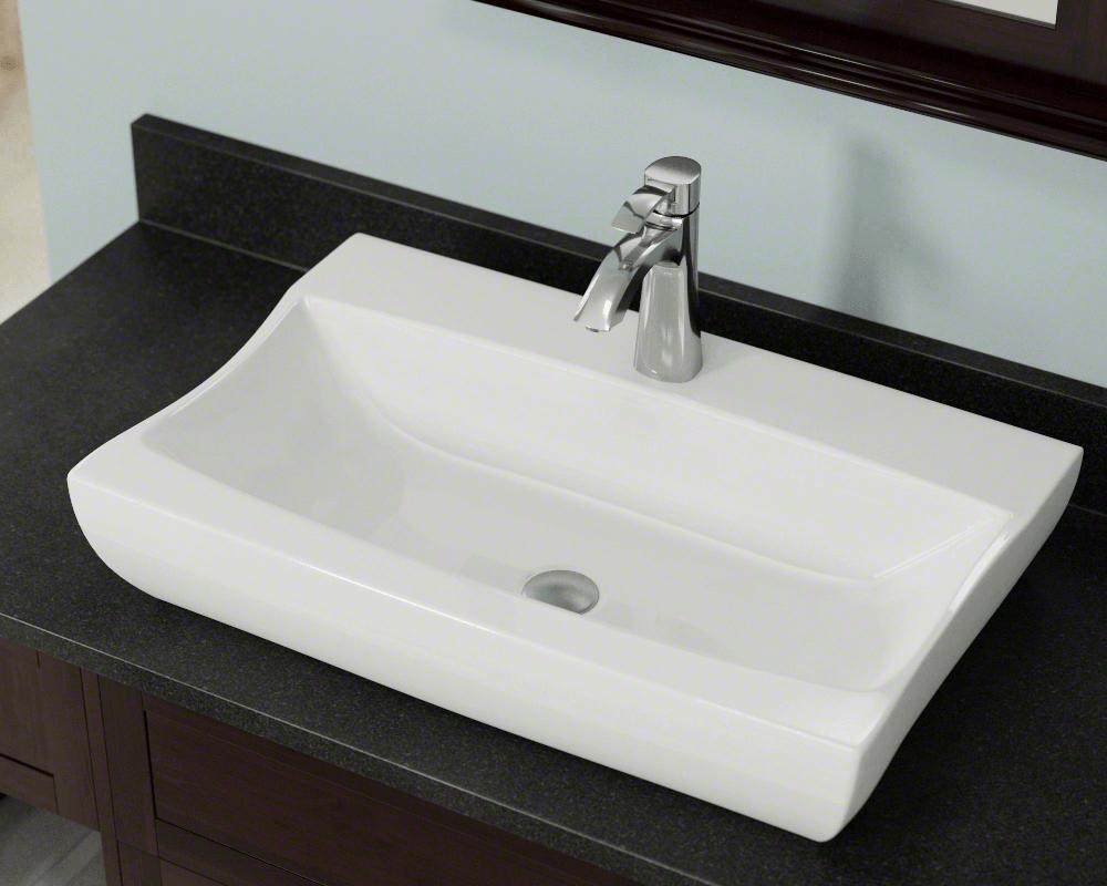 V2302 Bisque Porcelain Vessel Sink Sink Bathroom Sink Rectangular Sink Bathroom