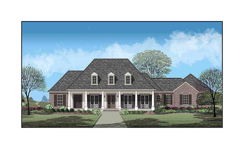 Southern Style House Plan 40335 With 3 Bed 3 Bath 2 Car Garage Farmhouse Style House Plans Southern House Plan Farmhouse Style House