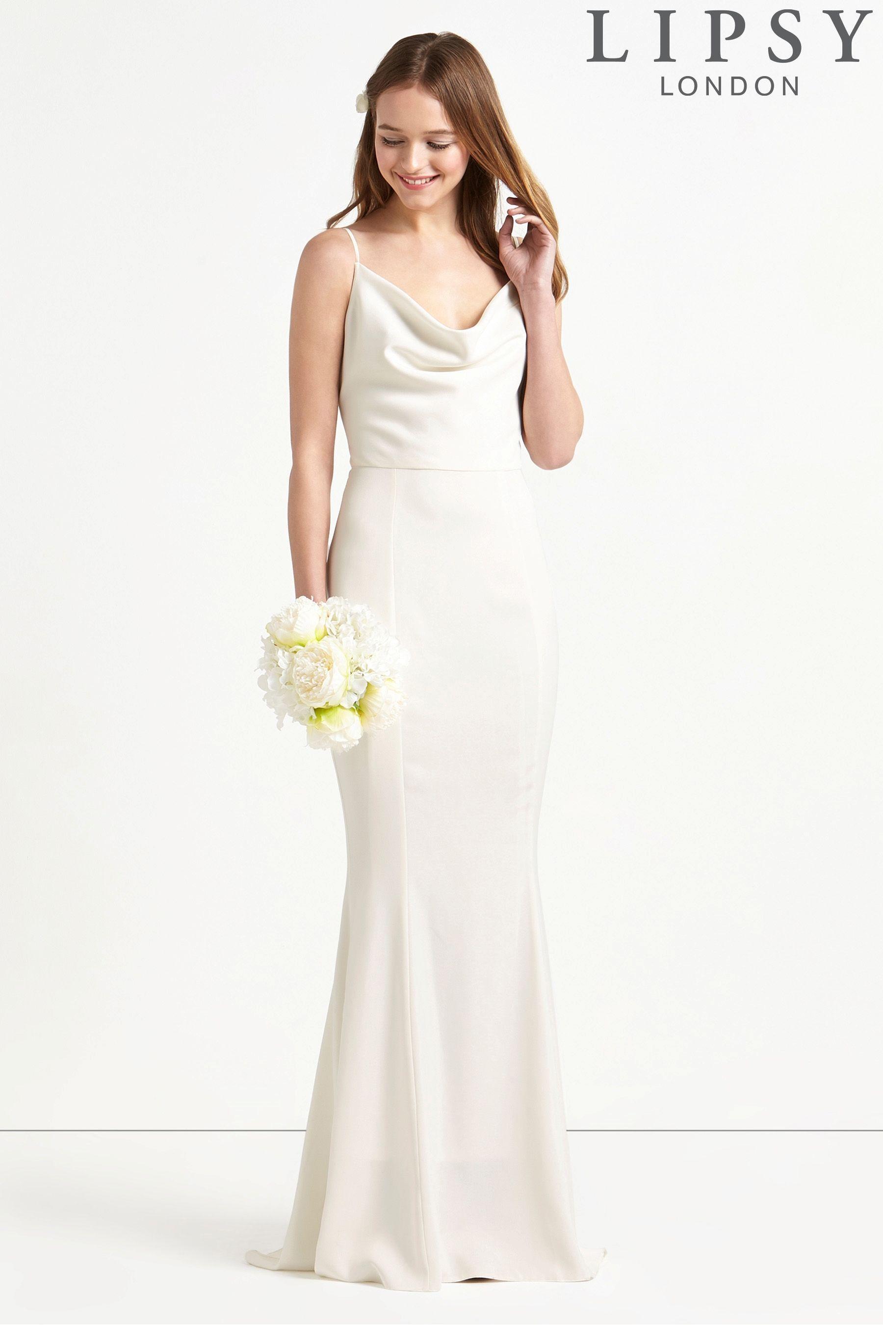 Pin By Kamile Jasiunaite On Bridesmaids Cowl Neck Wedding Dress Short Wedding Dress Lipsy Dresses