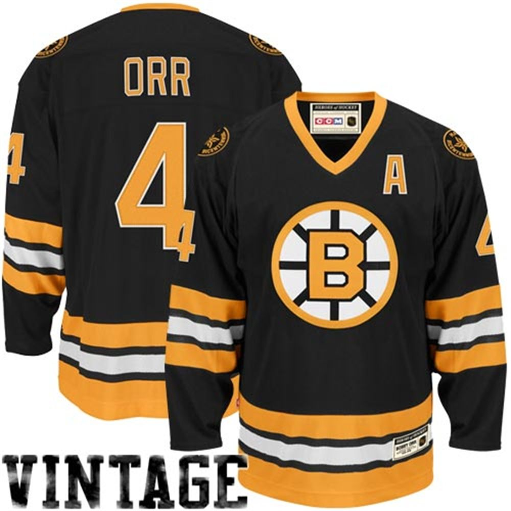 wholesale dealer 0cc7a 357b5 CCM Bobby Orr Boston Bruins Heroes of Hockey Jersey - Black ...