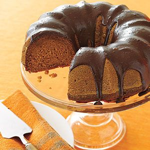 Chocolate Glazed pumpkin cake - this is the BEST recipe!  The cake is moist and I always get tons of compliments.  I leave the corn syrup out of the icing.