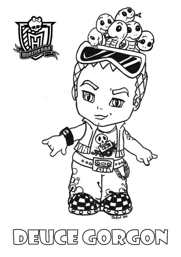Monster High Ausmalbilder Baby : Baby Deuce Printable Coloring Sheet From Jadedragonne At Deviant Art