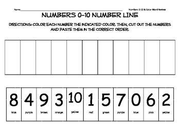 numbers 0 10 number line number kindergarten and kindergarten math. Black Bedroom Furniture Sets. Home Design Ideas