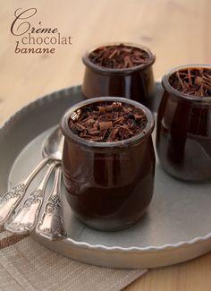 Crème chocolat banane - Sans oeufs, ni produits laitiers mais à l'avocat. Et sans morceaux. #cacao