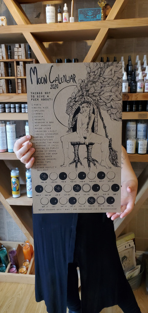 House-made 2020 Letterpressed Lunar Moon Calendar #newmoonritual