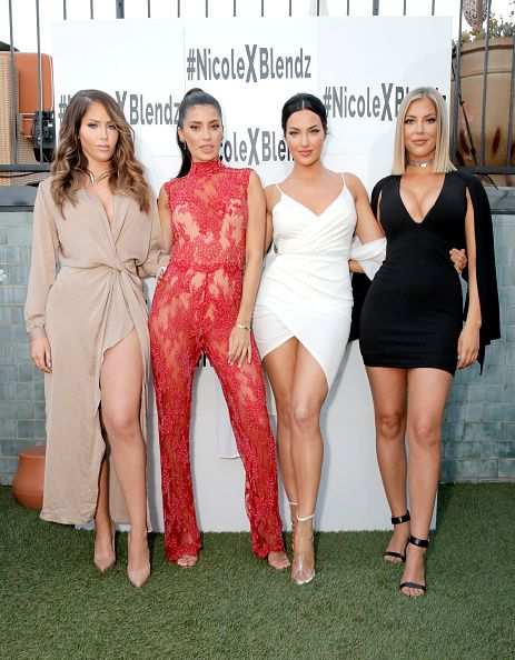 TV Personalities Natalie Halcro Nicole Williams Olivia Pierson And Sophia Pierson Of The TV Show ...