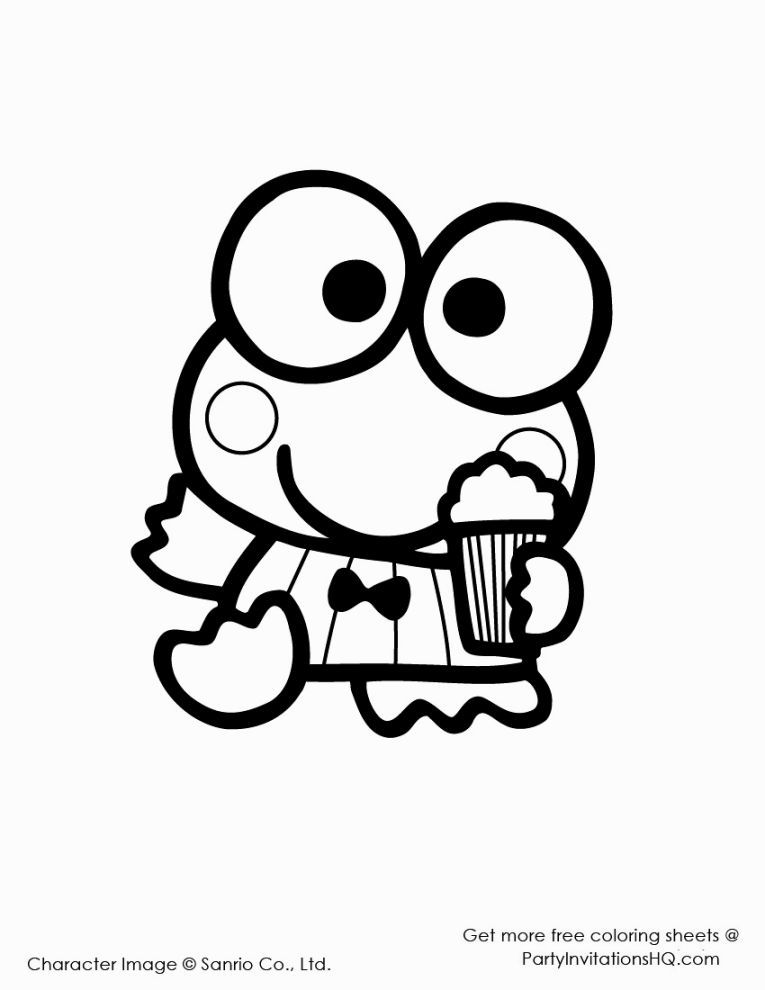 Keroppi Coloring Pages Coloring Pages Pinterest Hello kitty - new christmas coloring pages for grandparents